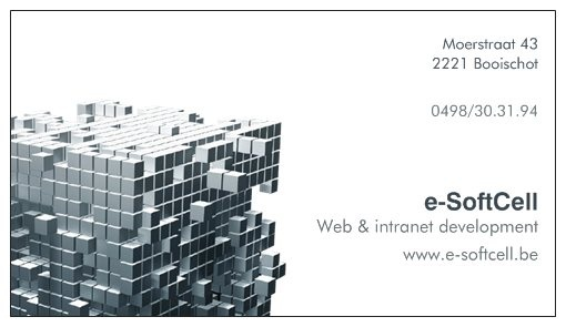 e-SoftCell - Web & intranet development - Moerstraat 43, 2221 Booischot - 0498/30.31.94